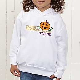 Cutest Pumpkin In The Patch Personalized Toddler Hooded Sweatshirt
