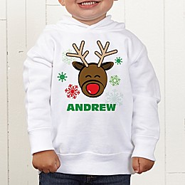 Christmas Reindeer Personalized Toddler Hooded Sweatshirt