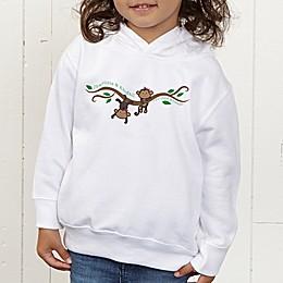 Two Little Monkeys Personalized Toddler Hooded Sweatshirt