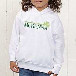Born Lucky Personalized Toddler Hooded Sweatshirt