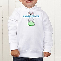 Bunny Love Personalized Toddler Hooded Sweatshirt