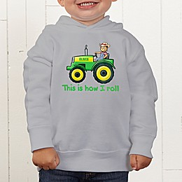 Tractor Time Personalized Toddler Hooded Sweatshirt