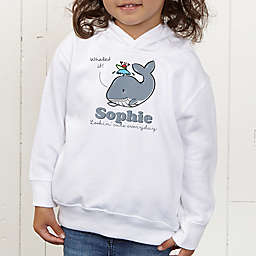 Lovable Whale Personalized Toddler Hooded Sweatshirt