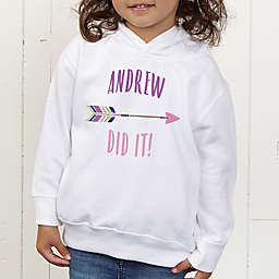 Who's To Blame! Personalized Toddler Hooded Sweatshirt