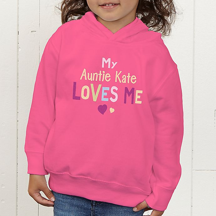 Alternate image 1 for You Are Loved Personalized Toddler Hooded Sweatshirt