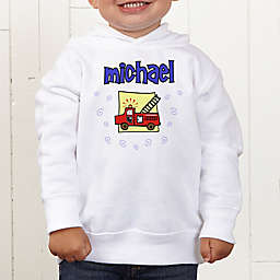 He's All Boy Personalized Toddler Hooded Sweatshirt
