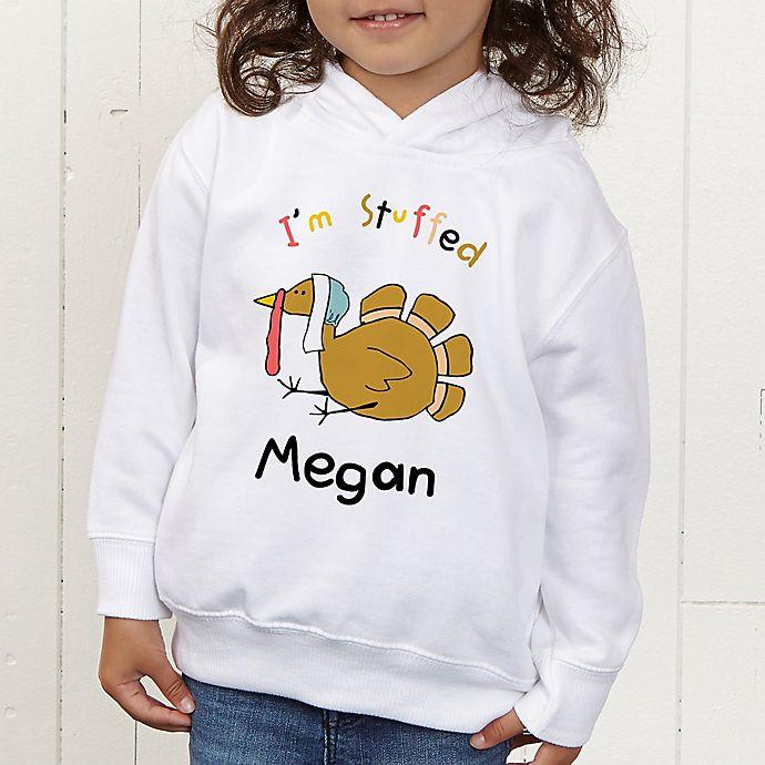 Alternate image 1 for I'm Stuffed Personalized Toddler Hooded Sweatshirt