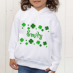 Lucky Clover Personalized Toddler Hooded Sweatshirt