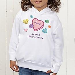 Little Valentine Personalized Toddler Hooded Sweatshirt