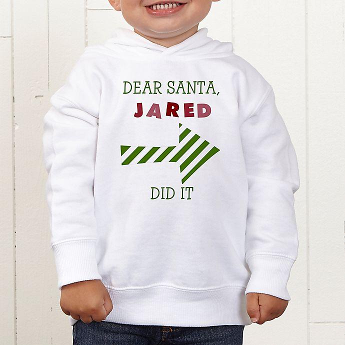 Alternate image 1 for Dear Santa Personalized Toddler Hooded Sweatshirt