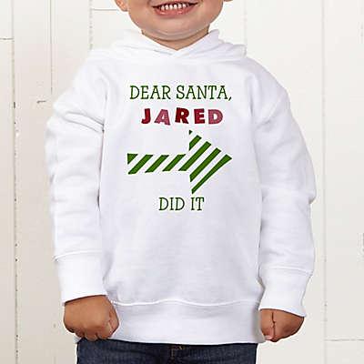Dear Santa Personalized Toddler Hooded Sweatshirt