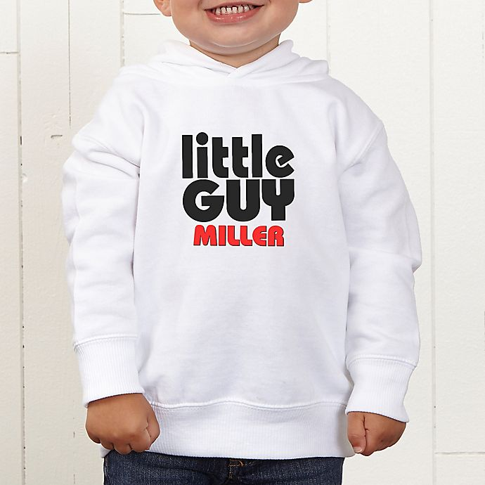 Alternate image 1 for Little Guy Personalized Toddler Hooded Sweatshirt