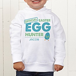 Easter Egg Hunter Personalized Toddler Hooded Sweatshirt