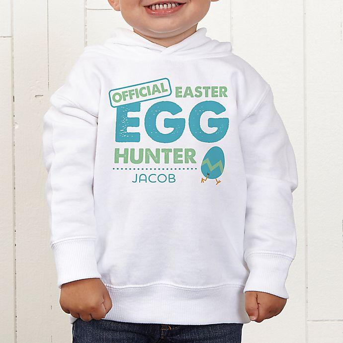 Alternate image 1 for Easter Egg Hunter Personalized Toddler Hooded Sweatshirt