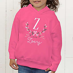 Girly Chic Personalized Toddler Hooded Sweatshirt