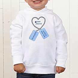 New Recruit Personalized Toddler Hooded Sweatshirt
