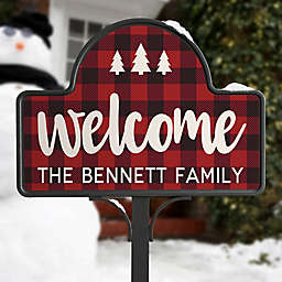 Cozy Cabin Personalized Magnetic Garden Sign