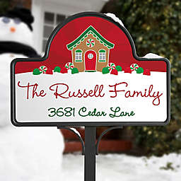 Gingerbread Family Personalized Magnetic Garden Sign