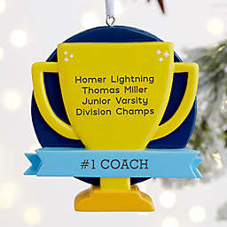 Trophy Goes To Personalized Award Ornament