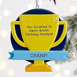 You Crushed It! Personalized Trophy Ornament