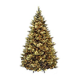 National Tree Company Carolina Pine Pre-Lit Artificial Hinged Christmas Tree w/Clear Lights