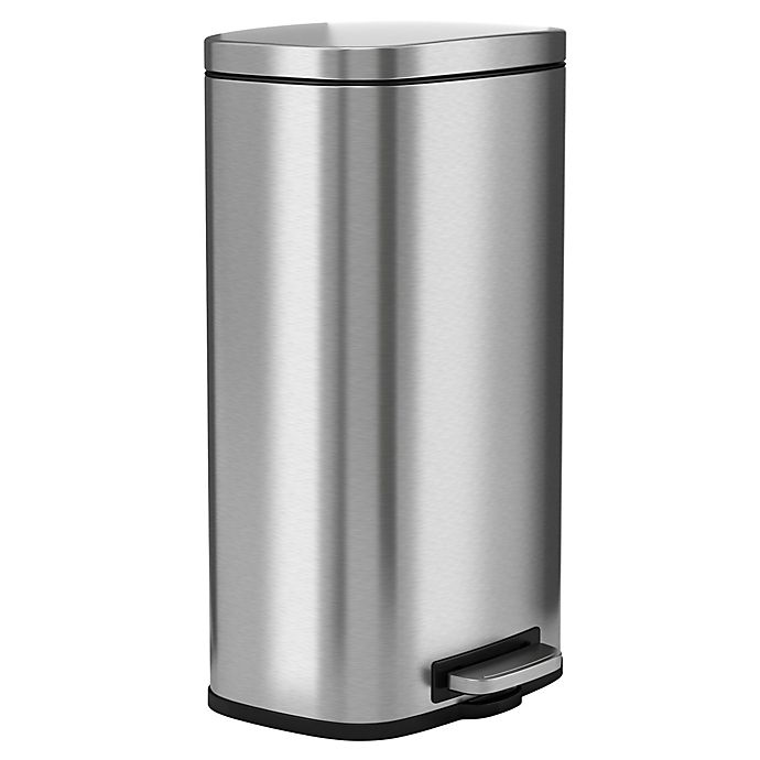 Alternate image 1 for halo Premium Stainless Steel 8-Gallon Step Can