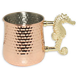 Seahorse Moscow Mule Mug in Copper