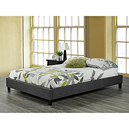 Brassex Inc Soho Upholstered Platform Bed in Grey