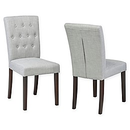 Brassex Inc. Faux Leather Upholstered Side Chairs (Set of 2)