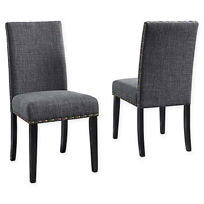 Brassex Inc Upholstered Indira Dining Chairs (Set of 2)