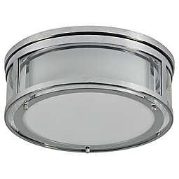 Renwil Mali 3-Light Flush Mount Ceiling Light in Chrome