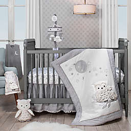 Lambs & Ivy® Luna 4-Piece Crib Bedding Set in Grey/White