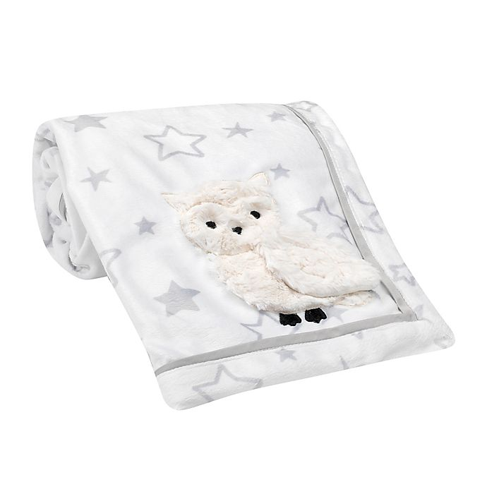 Alternate image 1 for Lambs & Ivy® Luna Security Blanket in Grey/White