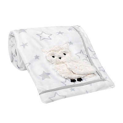 Lambs & Ivy® Luna Security Blanket in Grey/White