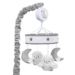 Lambs & Ivy® Luna Musical Mobile in Grey/White