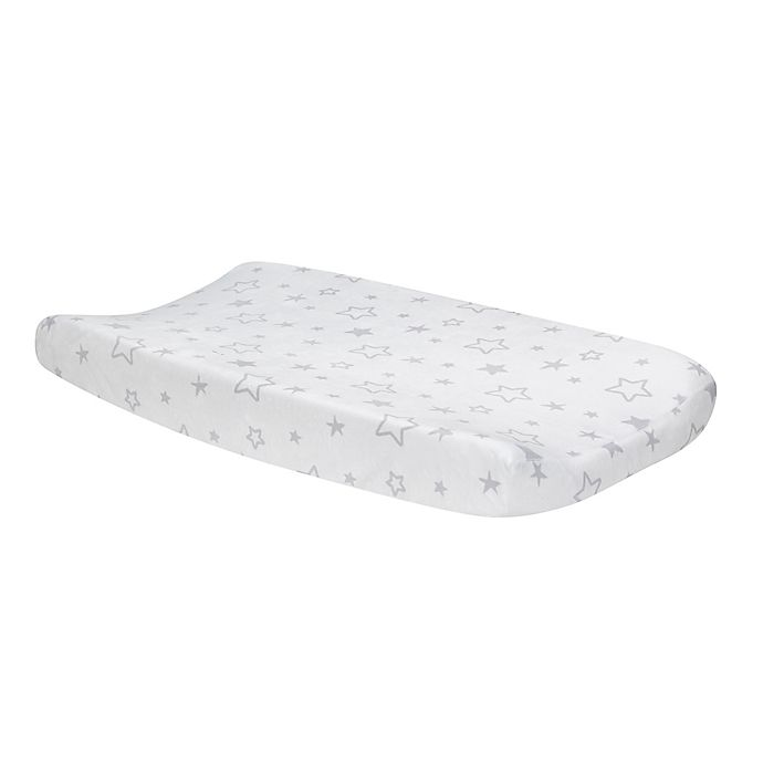 Alternate image 1 for Lambs & Ivy® Luna Changing Pad Cover in Grey/White