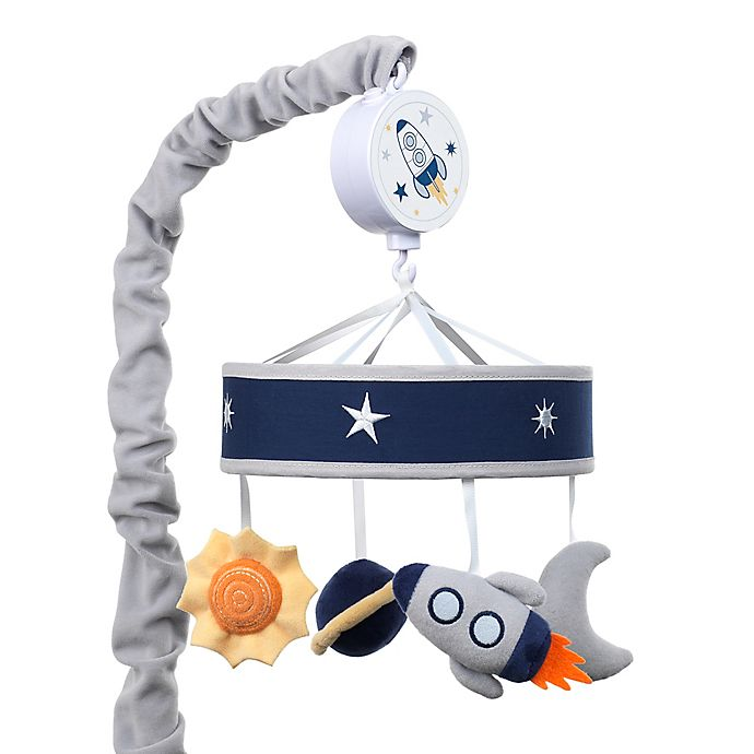 Alternate image 1 for Lambs & Ivy® Milky Way Musical Mobile in Blue