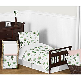 Sweet Jojo Designs Cactus Floral Toddler Bedding Collection