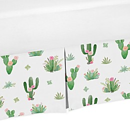 Sweet Jojo Designs Cactus Floral Twin Bed Skirt