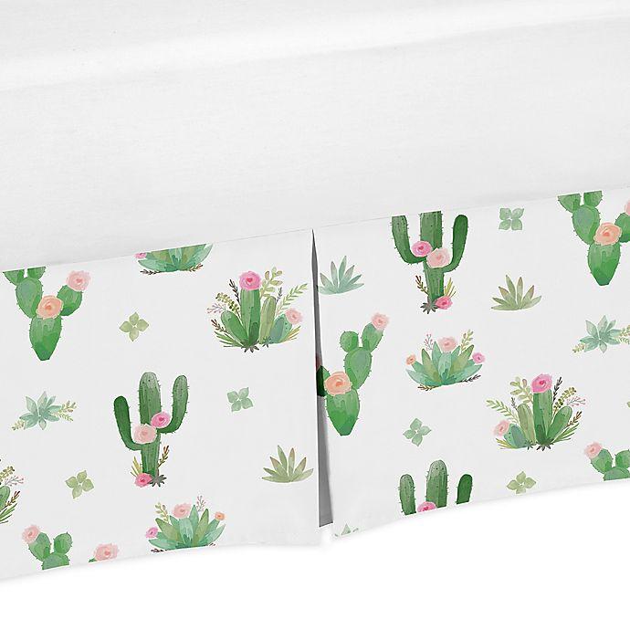 Alternate image 1 for Sweet Jojo Designs Cactus Floral Queen Bed Skirt