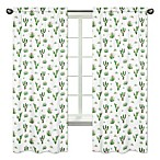 Sweet Jojo Designs Cactus Floral 84-Inch Rod Pocket Window Curtain Panel Pair