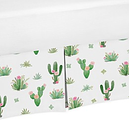 Sweet Jojo Designs Cactus Floral Crib Bed Skirt