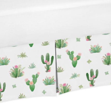 Sweet Jojo Designs Cactus Floral Crib Bed Skirt Buybuy Baby
