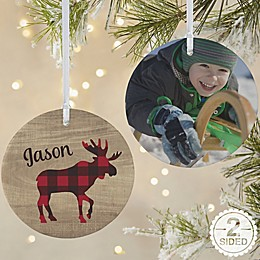 2-Sided Matte Cozy Cabin Personalized Ornament- Large