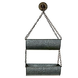 Hanging Buckets in Zinc (Set of 2)