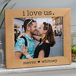 I Love Us Engraved Wood Picture Frame