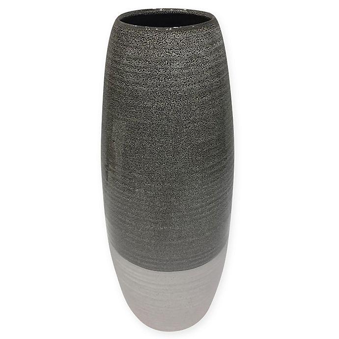 Alternate image 1 for 14.5-Inch Ceramic Cone Vase in Grey