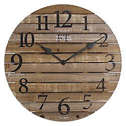 FirsTime & Co.® Barn Wood Wall Clock in Brown