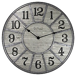 FirsTime & Co.® Cooper Wall Clock in Black/Silver