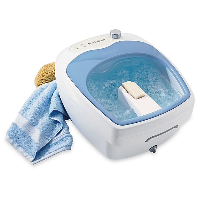 Alternate image 1 for Brookstone® Aqua-Jet Heated Foot Spa®